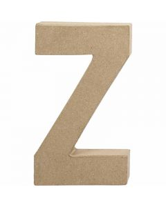 Pappbokstav, Z, H: 20,2 cm, B: 11,2 cm, tjocklek 2,5 cm, 1 st.