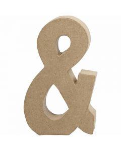 Pappsymbol, &, H: 19,9 cm, B: 11,5 cm, tjocklek 2,5 cm, 1 st.