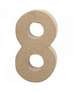 Pappsiffra, 8, H: 20,2 cm, B: 11 cm, tjocklek 2,5 cm, 1 st.