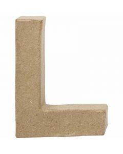 Pappbokstav, L, H: 10 cm, B: 7,5 cm, tjocklek 1,7 cm, 1 st.