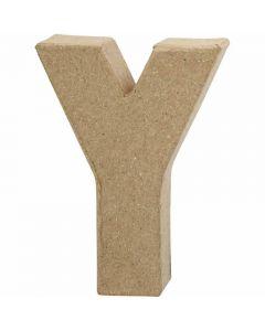 Pappbokstav, Y, H: 10 cm, B: 7,9 cm, tjocklek 1,7 cm, 1 st.