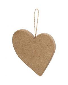 Ojämnt hjärta, H: 10,5 cm, 1 st.