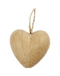Hjärta, H: 6,5 cm, 9 st./ 1 förp.