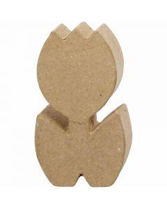 Tulpan av papier-maché, H: 19 cm, djup 3 cm, 1 st.