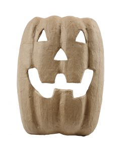 Halloweenmask av papier-maché, H: 21,5 cm, B: 17 cm, 1 st.