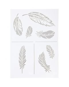 Stencil, fjäder, A4, 210x297 mm, 1 st.