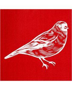Screen stencil, Fågel, 20x22 cm, 1 ark