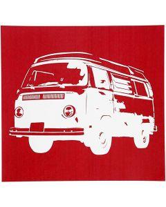 Screen stencil, Buss, 20x22 cm, 1 ark