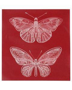 Screen stencil, Fjäril, 20x22 cm, 1 ark