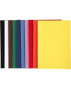 Velourpapper, A4, 210x297 mm, 140 g, mixade färger, 10 ark/ 1 förp.