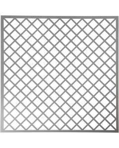 Stencil, Fyrkanter, stl. 30,5x30,5 cm, tjocklek 0,31 mm, 1 ark