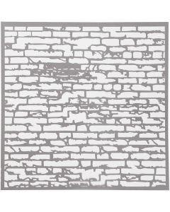 Stencil, mur, stl. 30,5x30,5 cm, tjocklek 0,31 mm, 1 ark