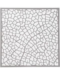 Stencil, blad, stl. 30,5x30,5 cm, tjocklek 0,31 mm, 1 ark