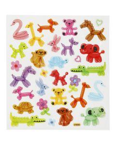 Stickers, ballongdjur, 15x16,5 cm, 1 ark