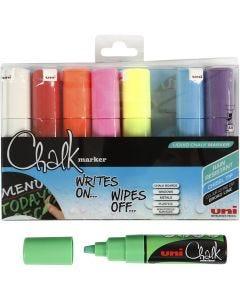 Chalk Marker, spets 8 mm, mixade färger, 8 st./ 1 förp.