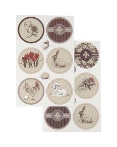 Stickers, 9x14 cm, 4 mix. ark/ 1 förp.