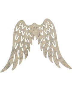 Trådvingar, H: 6 cm, B: 7,5 cm, 5 st./ 1 förp.