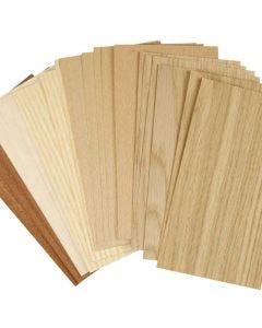 Bambufaner, 12x22 cm, tjocklek 0,75 mm, 30 mix. ark/ 1 förp.