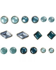 Brads, stl. 8-18 mm, blå, 16 st./ 1 förp.