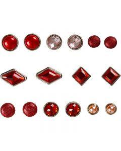 Brads, stl. 8-18 mm, röd, 16 st./ 1 förp.