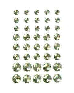 Halv-pärlor, stl. 6+8+10 mm, grön, 40 st./ 1 förp.