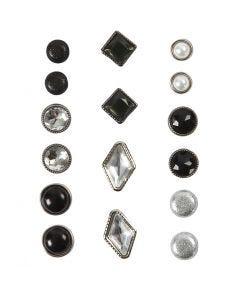 Brads, stl. 8-18 mm, svart, 16 st./ 1 förp.