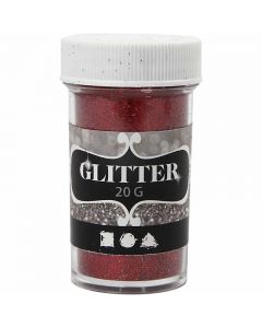 Glitter, röd, 20 g/ 1 burk