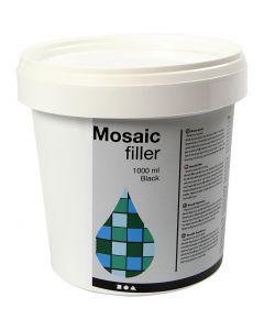 Mosaikfiller, svart, 1000 ml/ 1 hink