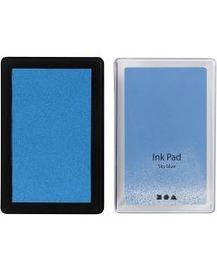 Stämpeldyna, H: 2 cm, stl. 9x6 cm, himmelsblå, 1 st.