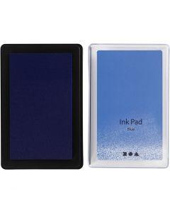 Stämpeldyna, H: 2 cm, stl. 9x6 cm, blå, 1 st.