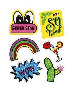 Soft Stickers, Super Star, 12,2x17,75 cm, 1 ark