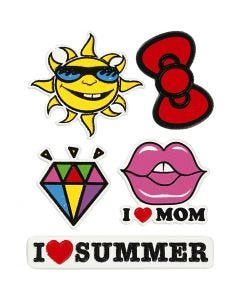 Soft Stickers, I Love Mom, 12,2x17,75 cm, 1 ark