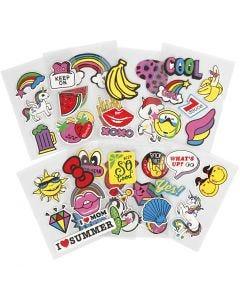 Soft Stickers, 12,2x17,75 cm, 8 ark/ 1 förp.