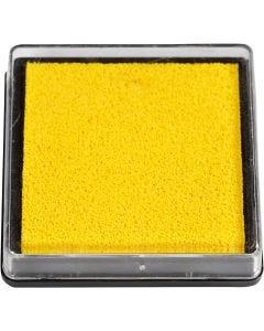 Stämpeldyna, stl. 40x40 mm, gul, 1 st.