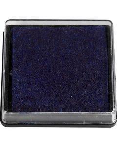 Stämpeldyna, stl. 40x40 mm, mörkblå, 1 st.