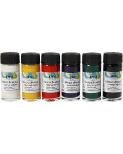 Magic Marble Marmoreringsfärg, standardfärger, 6x20 ml/ 1 förp.