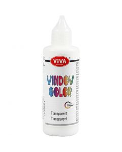 Fönsterfärg, transparent, 90 ml/ 1 flaska