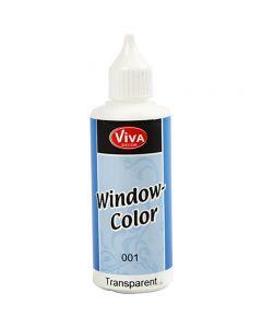 Fönsterfärg, transparent, 80 ml/ 1 flaska