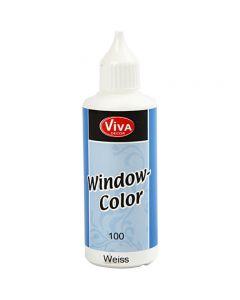 Fönsterfärg, vit, 80 ml/ 1 flaska