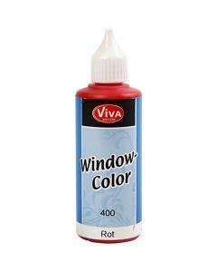 Fönsterfärg, röd, 80 ml/ 1 flaska