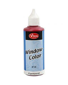 Fönsterfärg, karminröd, 80 ml/ 1 flaska