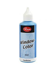 Fönsterfärg, ljusblå, 80 ml/ 1 flaska