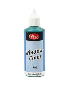 Fönsterfärg, mörkgrön, 80 ml/ 1 flaska