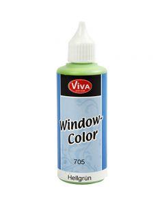 Fönsterfärg, ljusgrön, 80 ml/ 1 flaska