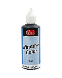 Fönsterfärg, konturfärg, svart, 80 ml/ 1 flaska