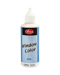 Fönsterfärg, guld, 80 ml/ 1 flaska