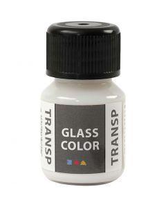 Glasfärg transparent, vit, 30 ml/ 1 flaska
