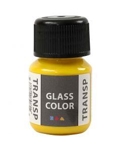Glasfärg transparent, citrongul, 30 ml/ 1 flaska