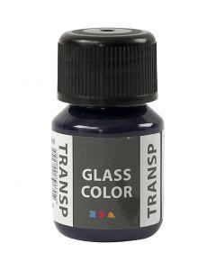 Glasfärg transparent, marinblå, 30 ml/ 1 flaska