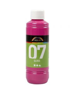A-Color Glas, rosa, 250 ml/ 1 flaska